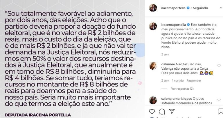 Falsa lista de deputados piauienses que votaram contra a devolução do Fundo Partidário no combate àCovid-19