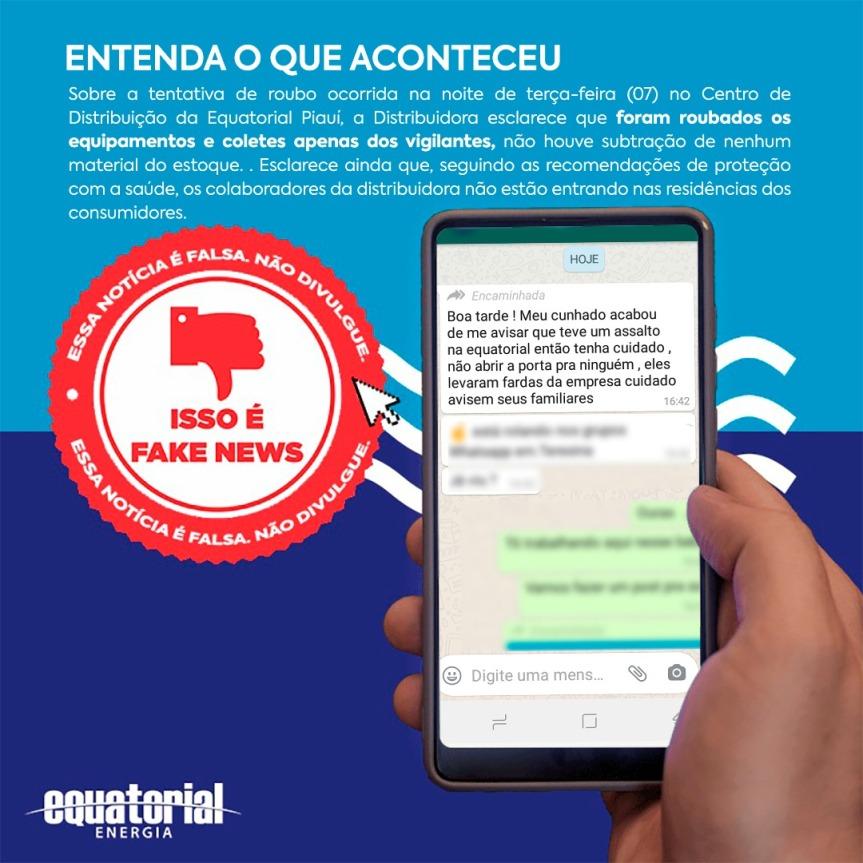 VERIFICAMOS: Mensagem que circula em WhatsApp sobre fechamento da EquatorialPiauí
