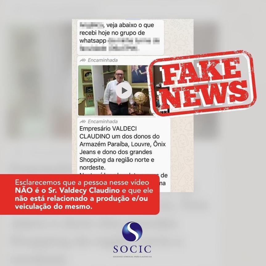 Informação em vídeo que Valdecy Claudino se posiciona contra isolamentosocial