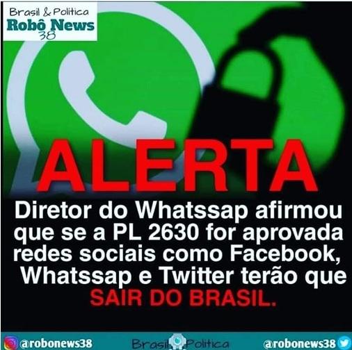 WhatsApp vai sair doBrasil?
