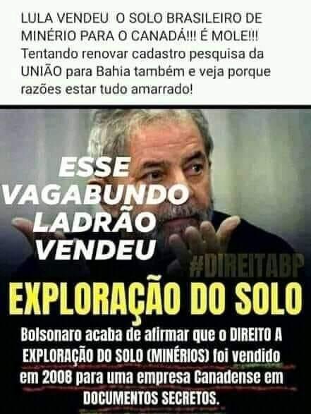 VERIFICAMOS: Lula vendeu solo brasileiro para Canadá conforme documentosecreto?