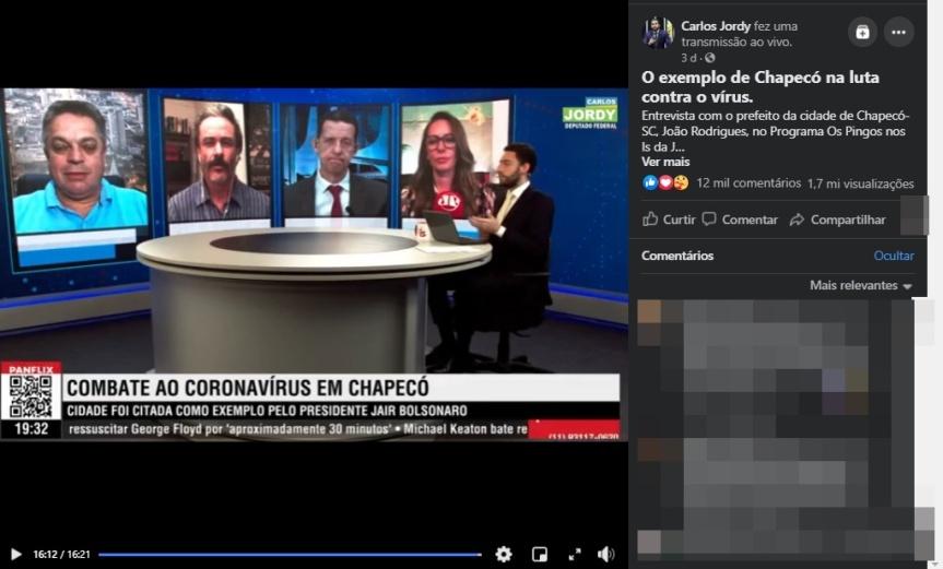 COAMOS: Chapecó é exemplo no combate àCovid-19?