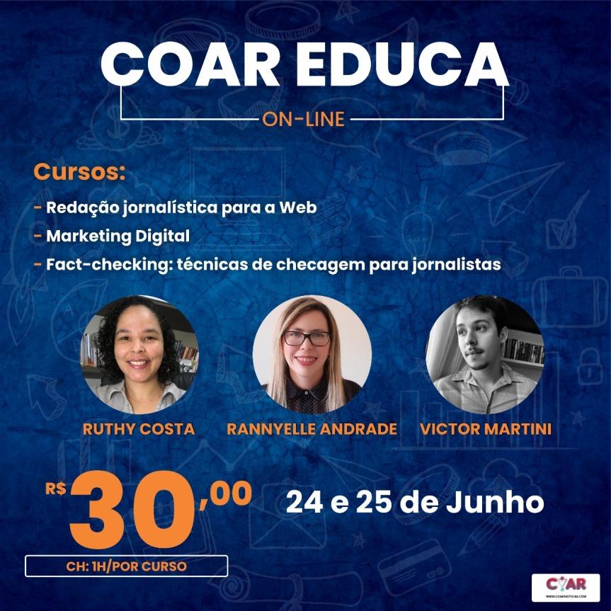 COAR lança cursos educacionais com preços acessíveis para acadêmicos eprofissionais