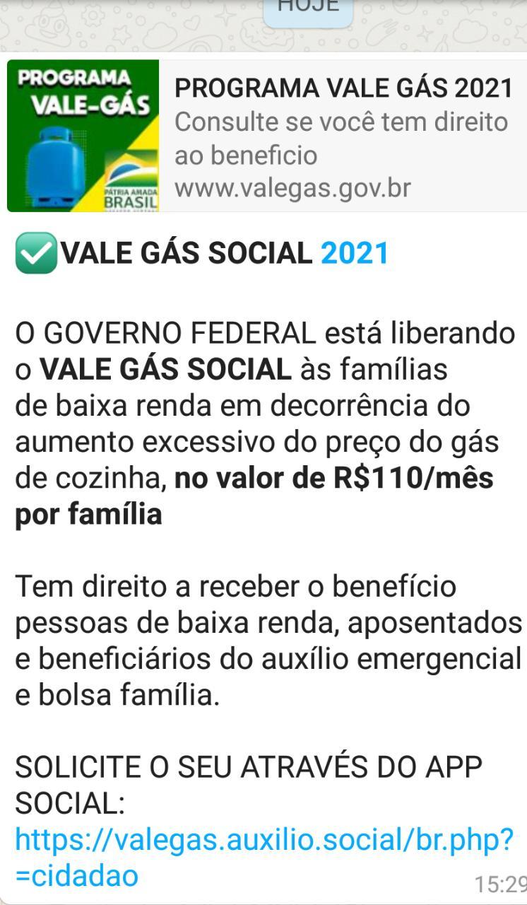 VALE GÁS: Governo Federal está liberando auxílio no valor de R$ 110 por mês? A entrega do Vale Gás em São Luís inicia quarta-feira(26)